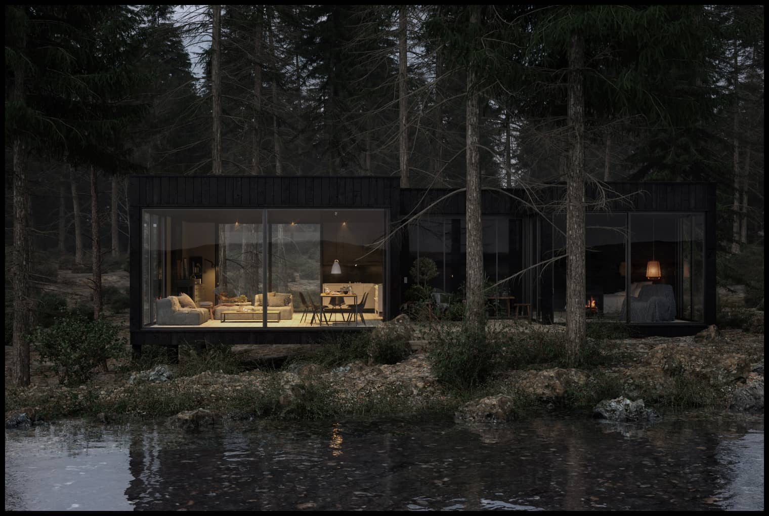 Cara - Scandinavian Cabin in the Woods