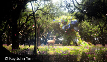 kay john yim gundam with-deer in forest